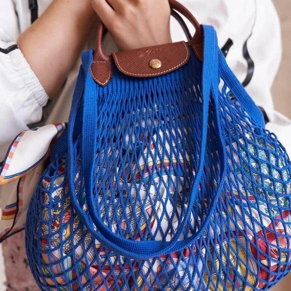 RARE!Longchamp Le Pliage Filet Top Handle Bag